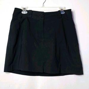 Nike Golf dri fit black skirt skort shorts sz 10